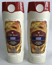 2 Pack Old Spice AMBER Body Wash Black Currant DISCONTINUED 16oz Each