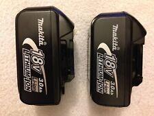 2 New Makita LXT 18 Volt 18V BL1830 3.0Ah Lithium Ion Batteries Li-ion