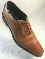 Banana Republic Mens Size 13 D Brown Leather Cap Toe Dress Oxfords Lace Up Shoes