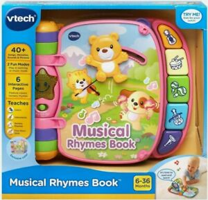 New! VTech Pink Musical Rhymes Book Children's Learning Toy Gift Activity
