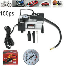 Portable Tire Inflator Car Air Pump Compressor 150 PSI 12V With Pressure Gauge
