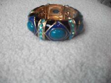 Bangle Blue Black Purple Wow Bracelet Bold Brilliant Designer Inspired Bracelet