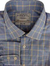 Charles Tyrwhitt Camisa Para Hombres 16 M Azul – azul y amarillo Compruebe Slim Fit