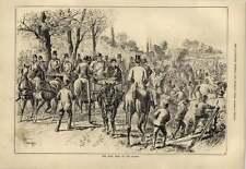 1879 Sturgess Artwork The First Meet Of The Season Crowd Scene
