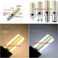110V 220V Dimmable LED G4 G9 E14 BA15D 9W 152-LED 3014 SMD Corn Bulb Light
