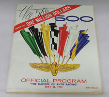 1974 Indy Car 58th Indianapolis 500 Official Program with Insert