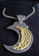 "Viking Moon Pendant 18"" Chain Lead Free Pewter Silver Gold - Change Inspiration"