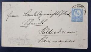 HUNGARY to GERMANY 1882 Emperor Joseph Stat Cover BUDAPEST to Hildesheim LOOK