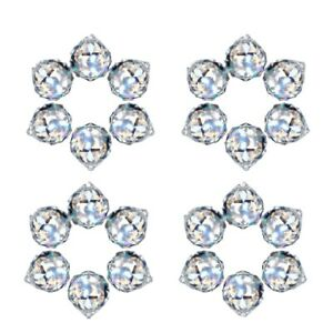 24 Pcs Crystal Balls Prism Suncatcher Rainbow Pendants Maker Hanging Crystals