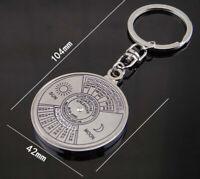 Keyring Key Silver Calendar Keyfob 50 Vintage Perpetual Keychain Years Chain
