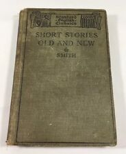 Short Stories Old And New By C Alphonso Smith Hardcover