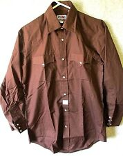New! PARDNERS Men's Brown Vtg Western Scovill Snaps LS Shirt Cowboy Size M NWT