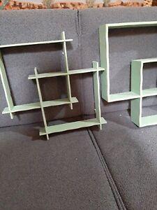 Mid Century Interlocking Shadow Box Shelves VINTAGE