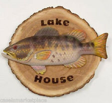LODGE ART DESIGNS Lake House Sign Handmade Wood Wall Plaque