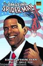 The Amazing Spider-Man President Barack Obama Election Day Hardcover Marvel
