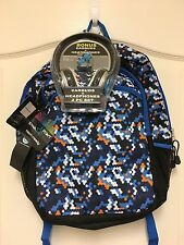 Star Point Tech Ready Orange Blue Octagcamo Backpack with Headphones
