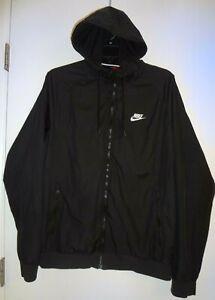 Nike Air Sportswear Windrunner Jacket Black w/White Swoosh Mens ~ M  AT5270-010