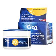 Cien Anti-Wrinkle Night Cream Q10 Hyalyronic Acid Vitamin E 50ml FREE SHIPPING