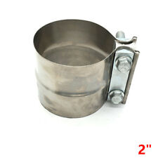 """2"""" 51MM Stainless Exhaust Band Clamp Step Clamps for Catback Muffler Downpipe"""