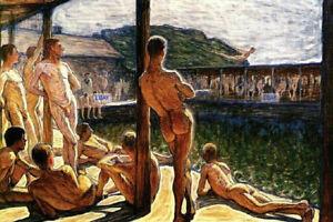 POSTCARD Print / Frederick JANSSON / Bathers, 1907 / Gay Interest