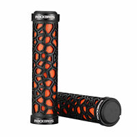 RockBros Double Lock-on Bicycle Handlebar Grips Fixed Gear Bike Grips Orange