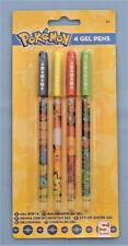 Pokemon lot de 4 stylos couleur gel Papeterie Enfant neuf sous emballage