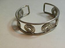 """Mexico 925 ATI signed Scrolling Cuff Bracelet 3/4"""" wide Adjustable for Wrist"""