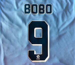 SYDNEY FC BOBO #9 A-LEAGUE NAME AND NUMBER SET FOR HOME OR AWAY JERSEYS