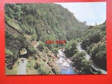 POSTCARD CAERNARVONSHIRE ABERGLASLYN PASS WITH THE AFON GLASLYN & OLD TRACK OF W