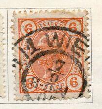 Austria 1904 PRIMA EMISSIONE USATO FINE 6h. 093458