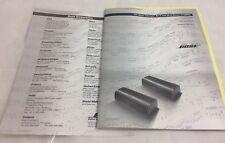 Bose Lifestyle SA-2 SA-3 Stereo Amplifier Manual Owner's Guide