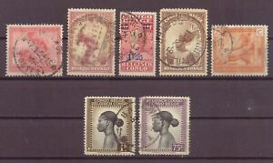 Belgian Congo, Issues of 1923 - 1942, Used, OLD