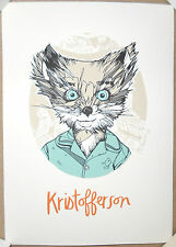 "Tyler Stout Fantastic Mr Fox Kristofferson Handbill Screen Print Poster 5"" x 7"""