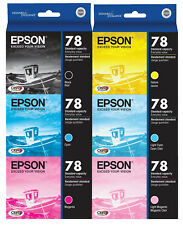 Epson 78 (T078) Ink Cartridge 6-Pack GENUINE for Stylus R260 R380 RX580 RX680