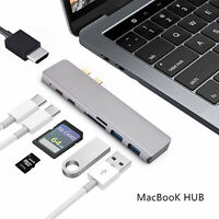 7in1 Type-C /USB-C Hub Adapter Dual USB 3.0 Port Thunderbolt For MacBook Pro Air