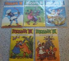 Mosaik 1987: Nr. 1 + 2 + 6 -12 1988: 2/4-12  -- Comics aus dem Verlag Junge Welt