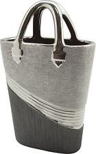 Modern Decorative Vase Flower Vase Sculpture Handbag Ceramic Silver 33x20 CM