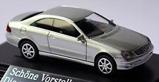 Mercedes Benz Clk C209 Coupè 2002-09 argento brillante metallico 1:87 Wiking