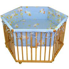 """Honey Bee"""" Parc bébé de luxe parc enfant 6 square parc de bebe bleu clair"""
