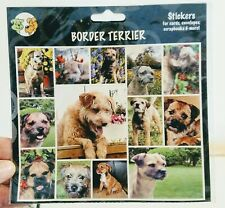 Pet Qwerks Border Terrier Dog Sticker Sheet Sealed Crafts, Scrap Booking, Cards