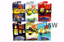 """Hot Wheels Despicable """"MINION MADE"""" Cars Set of 6 cars 1/64 DWF12-999A"""