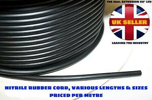 Solid Nitrile Rubber Cord - Black O Ring - Anti Oil Seal Gasket Dia 1mm to 13mm
