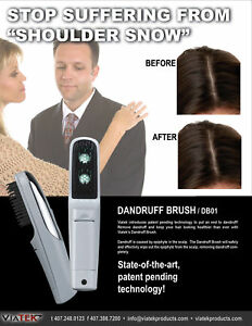 Problem Dandruff? Control it with UV Ultraviolet ion light comb brush hair loss!