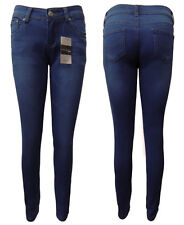 WAKEE BLUE SOFT DENIM LOW CUT SKINNY LEG JEANS WITH STRETCH.