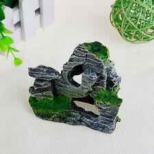 Mountain View Rockery Aquarium Rock Cave Tree Bridge Fish Tank Ornament Decor