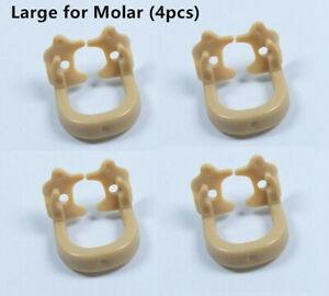 4x Dental Resin Kerr Soft Clamp Universal Rubber Dam Sheet Large for Molar teeth