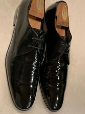 SALVATORE FERRAGAMO 'AIDEN' MENS BLACK LEATHER FORMAL SHOE SIZE 10D $720