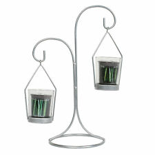 Village Candle Wire Frame Double Votive Holder - Silver