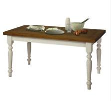 Tavolo da pranzo Allungabile Shabby Chic Piano Rovere e Basamento Bianco