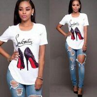 Women's Summer T-Shirt Fashion Printed T-Shirt Tee Tops Casual Women 2019